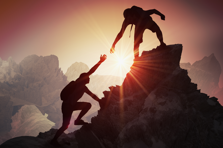 Helping someone climb